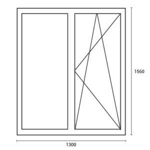 Цены на окна в хрущевку окно 1300*1560