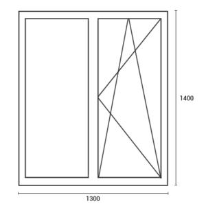 Цены на окна в хрущевку окно 1300*1400